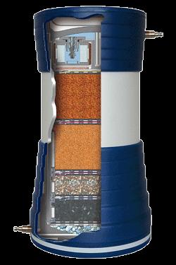 Trinkwasserfilter PROaqua 4200 im Querschnitt